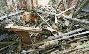 Imagem de destruição causada por terremoto (Postagem: O mais terrível terremoto já acontecido)
