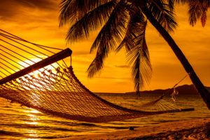 Imagem: Silhueta de rede de deitar (Postagem: O que você crê sobre o estado intermediário?)